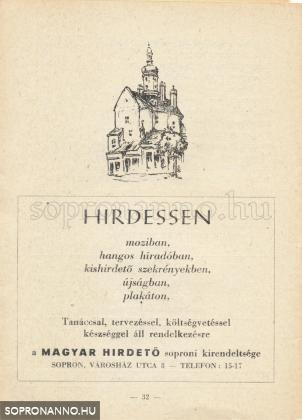 Magyar Hirdető reklámja egy kiadványukban