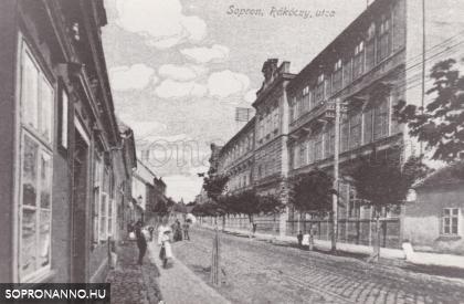 A II. Rákóczi Ferenc utca egykor a nevelőintézettel