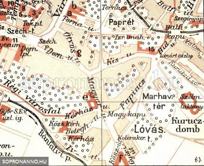 Részlet Sopron 1911-es térképéből
