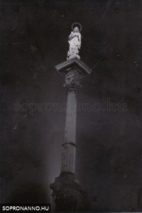 A Mária - szobor éjjel
