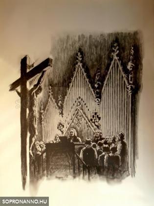 Emléklap a Máté-passió soproni előadásáról 1941-ből