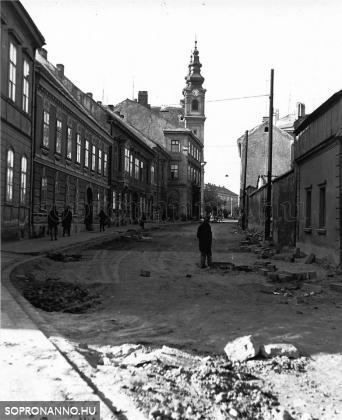 A Móricz Zsigmond utca az 1970-es évek elején