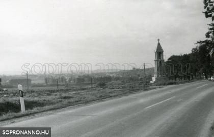 A Pihenőkereszt és környéke az 1980-as években