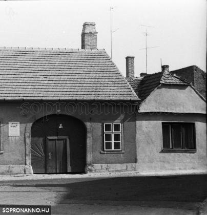 Az épület részlete G.Nagy Béla felvételén 1970 körül
