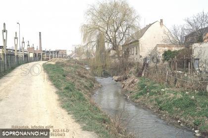 A Rák-patak a mára meghosszabbított Csengery utca vonalában