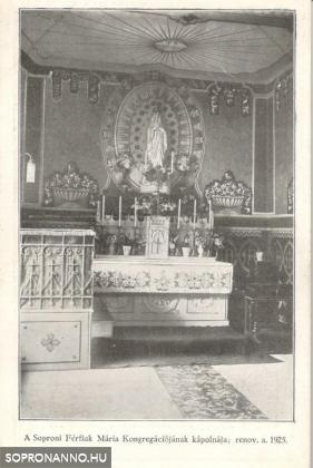 A Soproni Férfiak Mária Kongregációjának kápolnája