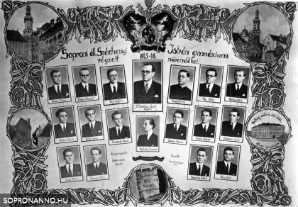 A Széchenyi István Gimnázium 1946-ban végzett növendékei