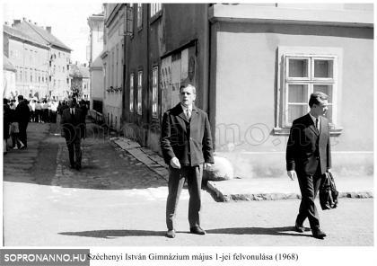 A SZIG felvonulása  1968-ban