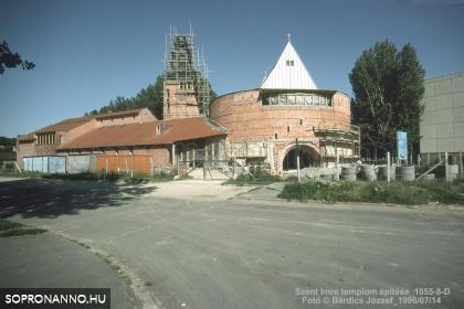 A Szent Imre-templom építése