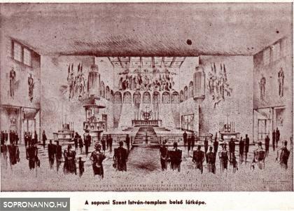 A Szent István - templom belülről