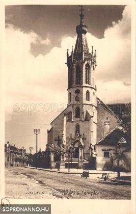 A Szent Mihály-templom az 1920-as években