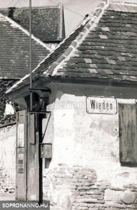 A Szent Mihály utca  és a Wieden találkozása 1937-ben