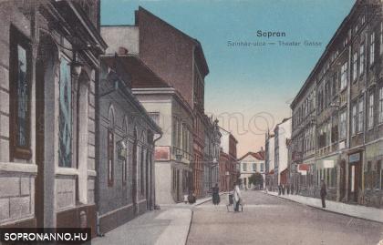 A Színház utca régi képeslapon