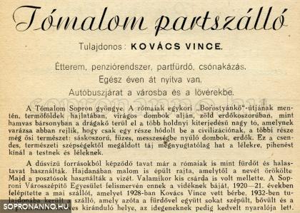 Újsághirdetés 1943-ból