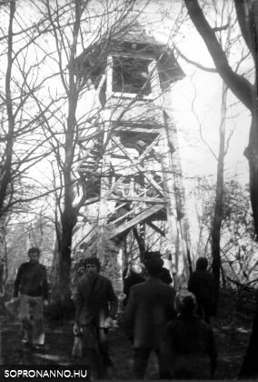 A Várhely-kilátó 1975-ben