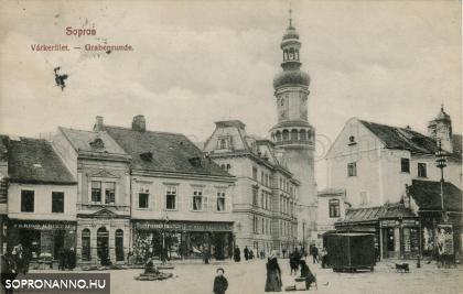 A Várkerület az Előkapunál az 1900-as évek elején