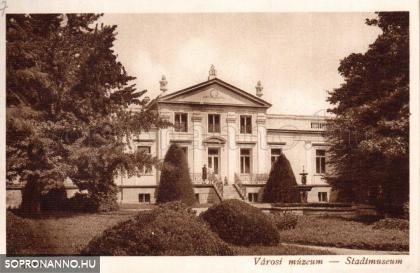 A Lenck-villa épülete az 1920-as években