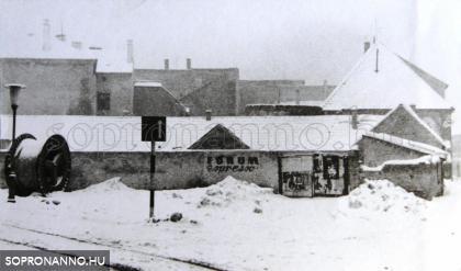 A Vasalóház helye 1964 telén