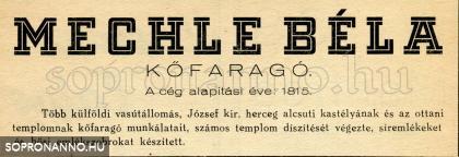 A Mechle cég reklámja 1944-ből