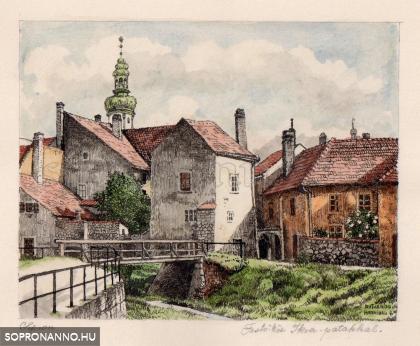 Autheried Hannibál Gizella képei Sopronról - A Festőköz