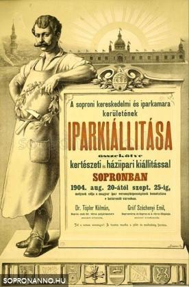 Az 1904-es Ipar- és Képzőművészeti kiállítás plakátja