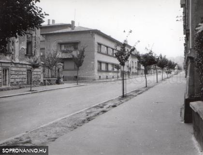 Az Alsólövér utca, szemben az Udvarnoki utca 2.