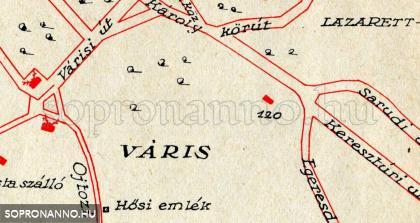 Az üdülő Sopron 1935-ös térképén (120-as számmal jelölve)