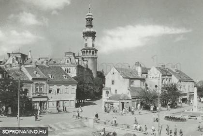 Az Előkapu és környéke az 1950-es évek elején