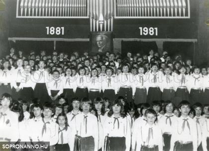 Az Éneklő Ifjúság rendezvénye Sopronban 1981-ben