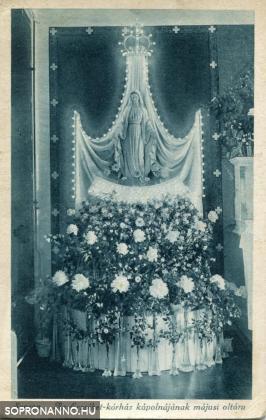 Az Erzsébet-kórház kápolnájának májusi oltára