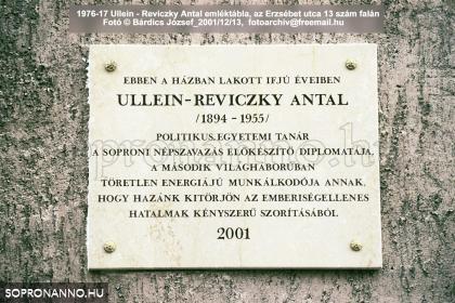 Ullein-Reviczky Antal emléktáblája