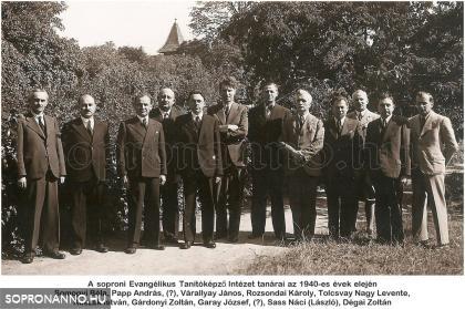 A Képezde tanárai az 1940-es évek elején