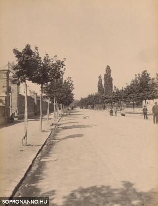 Az Indóház utca az 1880-as évek végén