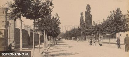 Az Indóház utca az 1880-as évek végén - képrészlet
