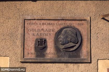 Goldmark Károly emléktáblája