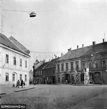 Az Ötvös utca és a Magyar utca 1970-ben