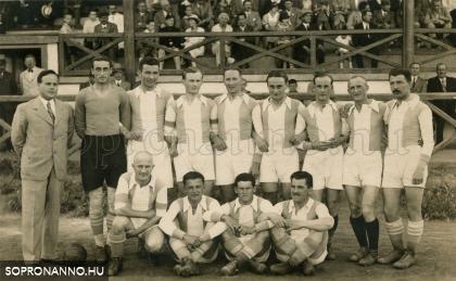 Az SVSE a nyugati csoport bajnoka 1934/35 - ben