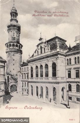 Az új városháza a Tűztoronnyal