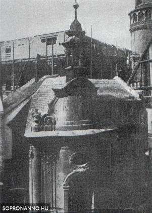 A Szent János - kápolna eredeti helyén