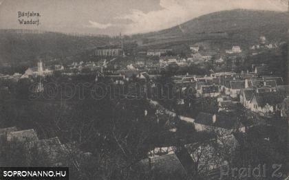 Bánfalvi látkép az 1900-as évek elejéről