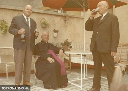 Bausz István atya vendégségben