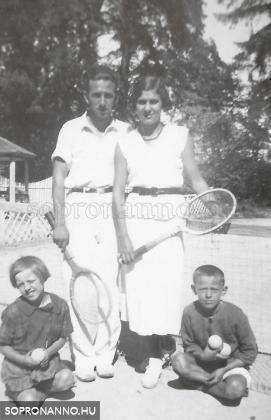 Békebeli soproni nyarak emléke, avagy tenisz anno