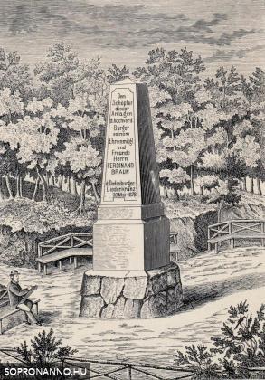 A Braun-emlékoszlop a Nándor-magaslaton
