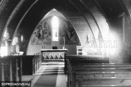 Brennbergbánya- 1979. Templom.
