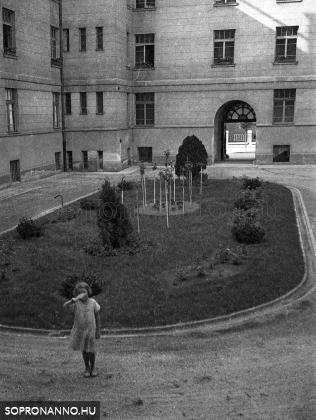 Családi fotók a Pénzügyi palota udvarán