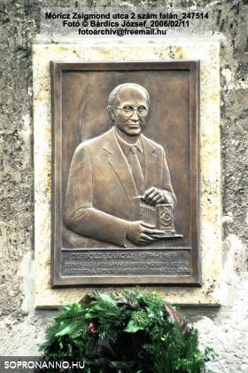 Diebold Károly emléktáblája a Somogyi-házon