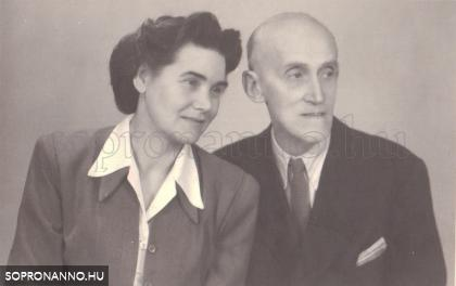 Dr. Hőgyészy Pál és felesége, Holnthoner Anna 1955-ben