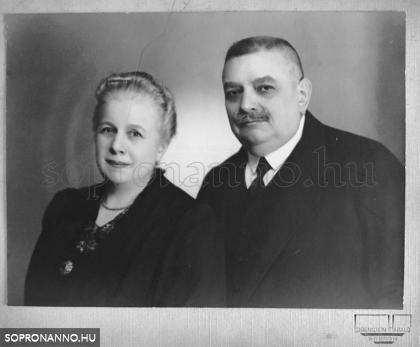 Schneeberger Adolf és felesége, Karolina 1925 körül