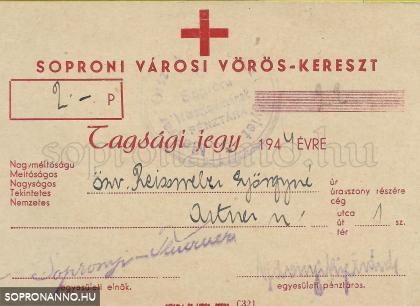 Igazolás a Vöröskeresztes tagsági díj befizetéséről