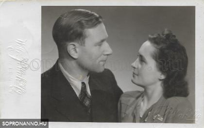 Eljegyzési fotó Bécsből /1947/